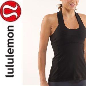 LULULEMON Black Scoop Neck Yoga Tank Size 6